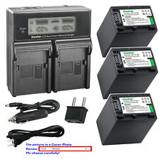 Kastar Battery LCD Dual Fast Charger for FV100 & Sony FDR-AX33 FDR-AX53 NEX-VG10