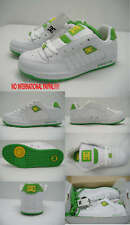 New Womens 9 Dc Ers White Green Leather Skate Shoes