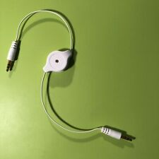 Audio Headphone Retractable Extension Cable - Male and Male ends, iPod, Earphone