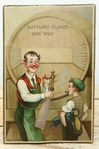 DEFCO Series -Bottling Claret- Novelty Double Sided Postcard with Cutout - C1905