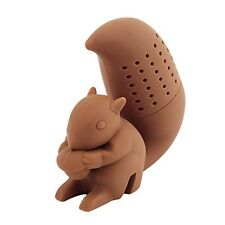 Silicone Squirrel Tea Infuser Loose Leaf Strainer Herbal Spice Filter Diffuser
