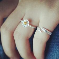 1x Small Fresh Daisy Sunflower Open-end Ring Adjustable Fashion Jewelry Gifts