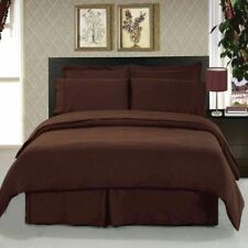 Luxuries 1-Piece TwinXL Size Bed (Top)Flat Sheet Brown Solid 400 TC 100%Cotton