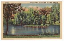 MUSKY Pool ROD and GUN CLUB Eau Claire WISCONSIN Postcard WI  LINEN 1948