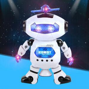 Smart Music LED Light Dance Robot Electronic Pet Walking Space Man Kids Toy Gift