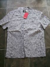 Mambo Short Sleeve Button-Front Casual Shirts for Men