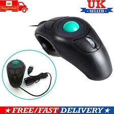 Trackball Mouse Wired Finger Handheld 4D Usb Mice Fits Left/Right Hand Users UK