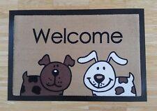 Fußmatte Türmatte Hund Dog Wauzi  Sauberlaufmatte Hunde Dog Hund  Welcome