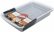 "Wilton 9x13"" Oblong Baking Pan with Cover Plastic Lid Non Stick Cake Lasagna NEW"