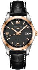 Longines Conquest Classic Black Dial 18k Rose Gold Men's Watch L2.785.5.56.3