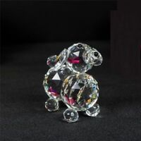 Puppy Dog Crystal Cut & Swarovski Element Inside Base with Gift Box Brand New_UK