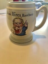 """1960s """"Drink Hires Rootbeer / Root Beer"""" Mugmint condition!Cheap!!!!"""