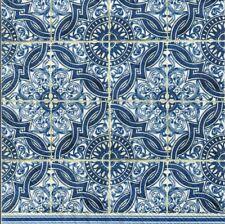 60 4 Solo Papel Decoupage Servilletas Azul Azul Azulejos portuguesa Adornos