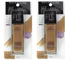 2 x MAYBELLINE 30mL FIT ME FOUNDATION 235 PURE BEIGE DEWY & SMOOTH SPF 18 NEW