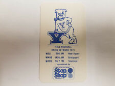 Yale University Bulldogs 1979 College Football Pocket Schedule - Stop&Shop/WELI