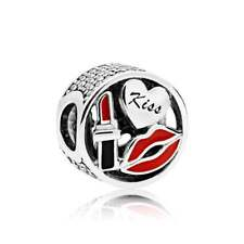 NEW!Authentic Pandora Glamour Kiss Mixed Enamel & Clear CZ Charm #796324ENMX $75