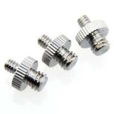 """CAMVATE 3x 1/4""""Male to 3/8""""Male Double-ended Screw Adapter For Camera / Tripod"""