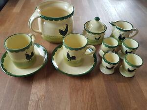 Hahn und Henne Zeller Keramik Konvolut