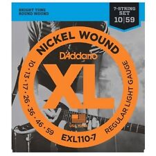 D'addario 5 Sets EXL110-7 String Guitar Strings 10-59