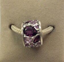 Chamilia Jewelry Mosaic Purple Swarovski Crystal Bead Sterling Silver Charm