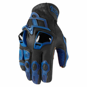 Icon Hypersport Leather Motorcycle Gloves