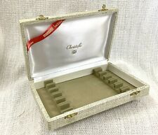 Vintage Christofle Cutlery Storage Box Holder Presentation Gift Case EMPTY