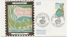 FRANCE 1975.F.D.C. SOIE. REGIONS. PAYS DE LA LOIRE.OBLITERATION:LE 6/9/75 NANTES
