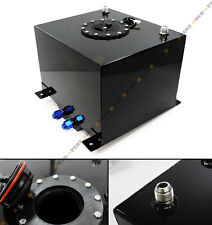 8 GALLON 30.5L BLACK ALUMINUM RACING/DRIFT FUEL CELL GAS TANK W/ LEVEL SENDER
