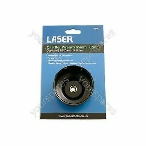 NEW Genuine LASER 4990 Oil Filter Wrench - 65mm/67mm x 14 Flutes
