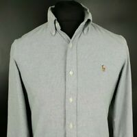 Ralph Lauren Mens Casual Shirt S SMALL Long Sleeve Grey Regular Fit  Cotton