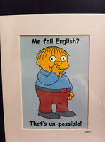 The Simpsons - Ralph Wiggum -  Hand Drawn & Hand Painted Cel