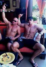 Shirtless Male Muscular Men Ripped Ab Legs Feet Hot Dudes Sitting PHOTO 4X6 N36