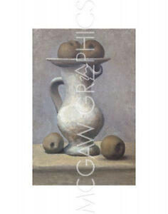 """PICASSO PABLO - STILL LIFE W/PITCHER AND APPLE -Artwork Reproduc 14"""" x 11"""" (1182"""