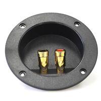 4-Inch Round Gold Push Spring Loaded Jacks Double Binding Post Speaker Box G1L2