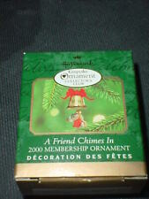 Hallmark A Friend Chimes In 2000 Christmas Keepsake Club Ornaments Mouse Bell