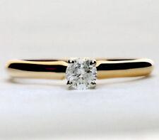 Diamond solitaire engagement ring 14K yellow gold round brilliant .25CT 2.1G sz7