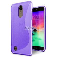 For LG K10 (2017) / K20 V/LV5 / K20 Plus Case S Line Gel TPU Silicone Skin Cover