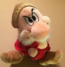 "Disney Store Snow White Dwarf Grumpy Plush 14"""