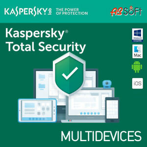Kaspersky Total Security 2021 1/3/5/10 Dispositivi 1 o 2 Anni  MULTI-DEVICES IT
