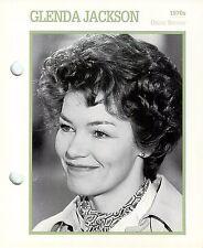 "Glenda Jackson 1970 Actress Movie Star Card Photo Front Biography on Back 6 x 7"""