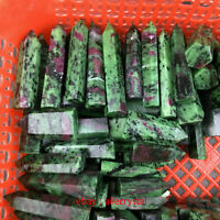 2.2LB natural zoisite quartz crystal obelisk wand point healing