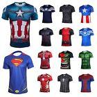 Men's T Shirt Action Figures The Avengers Comics Super Heroes Jersey Tops