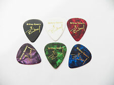 BRITNEY SPEARS full set of 6autograph stamped printed plectrum guitar picks med