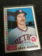 O-PEE-CHEE BASEBALL 1982 JACK MORRIS ALL STAR CARD 47 DETROIT TIGERS
