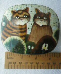 Hand-Painted Paper-Mache Lacquered Trinket Box