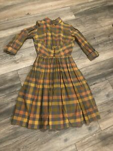 Vintage Candi Jones California Prairie Dress Size Small Medium