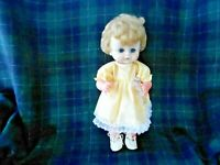 LOVELY VINYL DOLL WITH CUTE OPEN/SHUT BLUE EYES, GOOD CONDITION, CIRCA1950