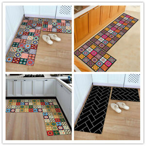 Kitchen Floor Mat Non-Slip Rug Doormat Hallway Runner Carpet Bedroom Living Room