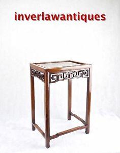 Huanghuali & Jichimu wood side table Qing Dynasty 19th C