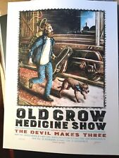 Old Crow Medicine Show 2015 Tour Poster Zeb Love Print Ocms #/320 Trains Dogs